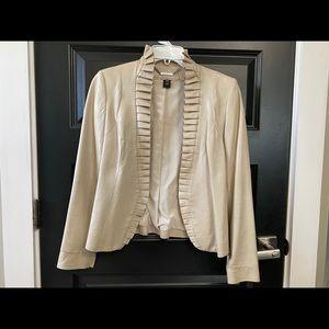 White House Black Market XXS Leather Jacket